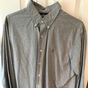 Ralph Lauren Polo Oxford Dress Shirt - Gray